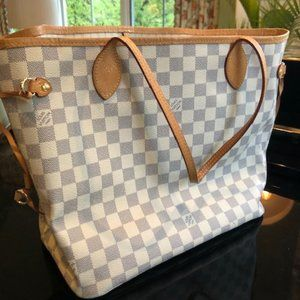 Louis Vuitton Neverful Mm Damier Azur
